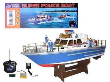 bateau de police radiocommand jouet t l command. Black Bedroom Furniture Sets. Home Design Ideas