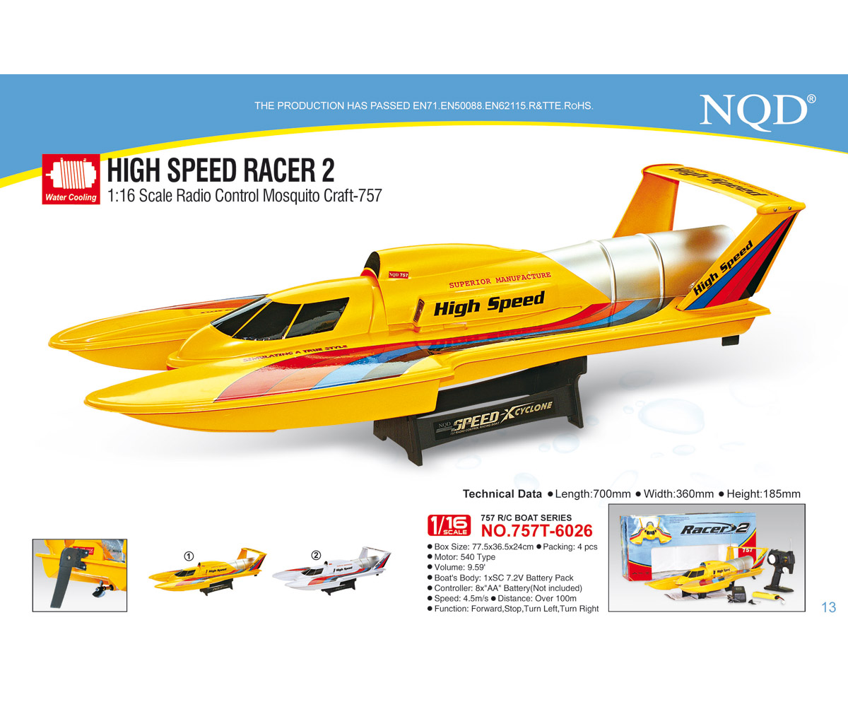 High Speed bateau radiocommande course